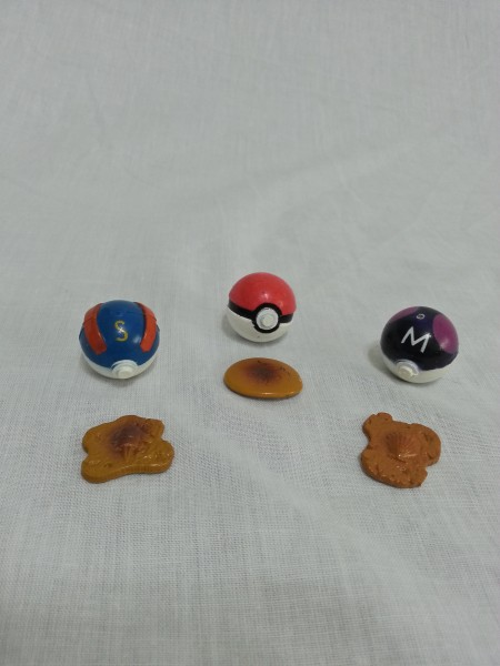 Pokemon Tomy Fossils and Poke balls