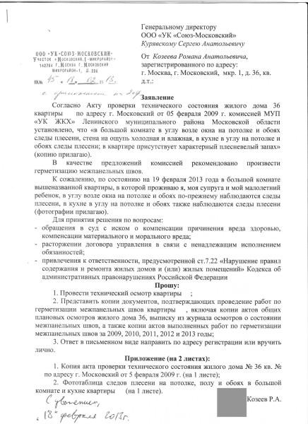 Заявление Козеева Р.А. в УК по швам (для ЖЖ)