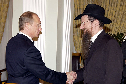 Berl_Lazar_and_Putin_in_2005