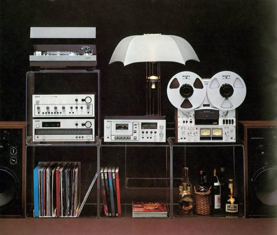 1976 - 77 SONY Stereo setup
