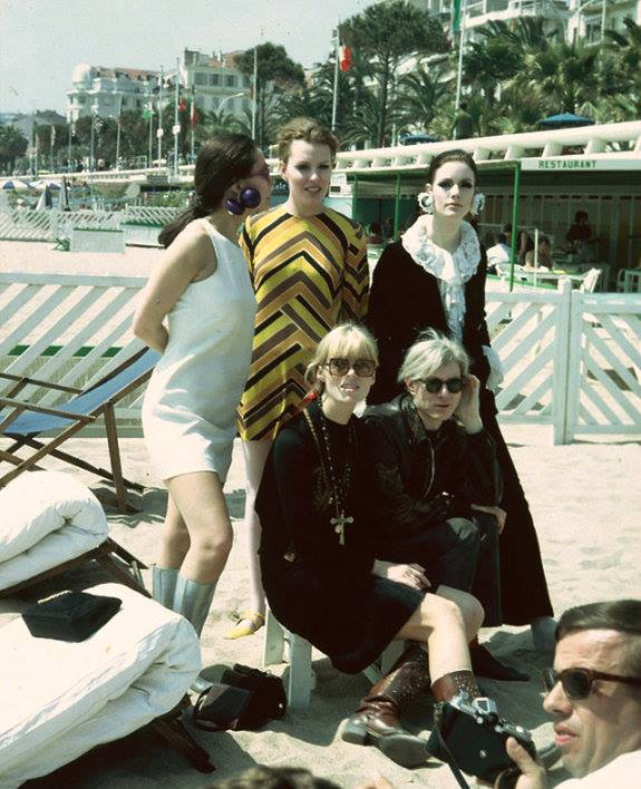 Nico and Andy at the Cannes Film Festival, 5th May 1967