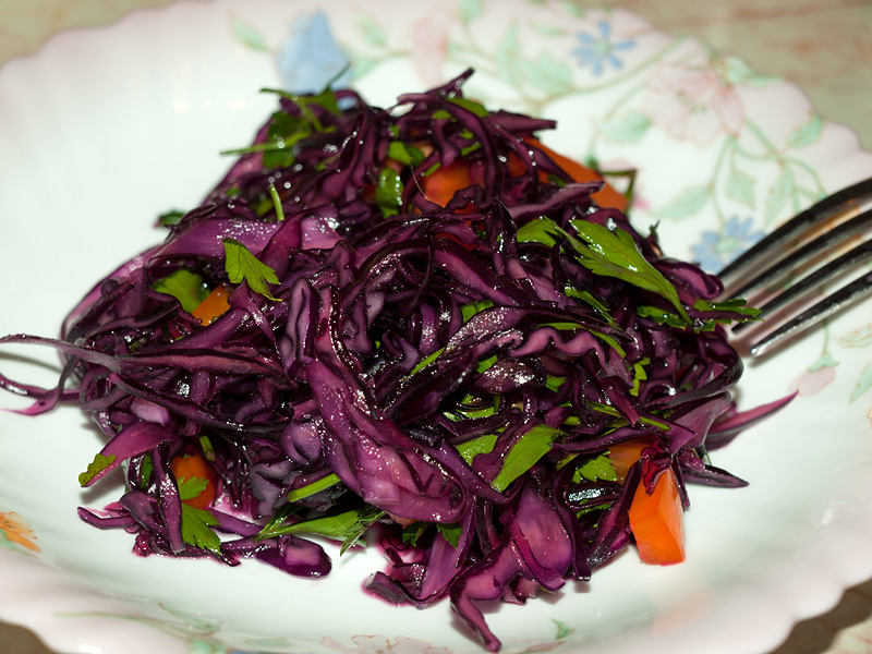 Фиолетовая капуста на зиму рецепты с фото