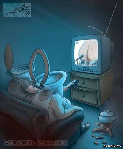 Жопа в телевизоре