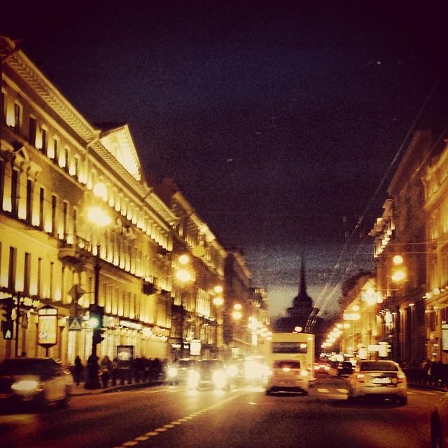 невский вечером