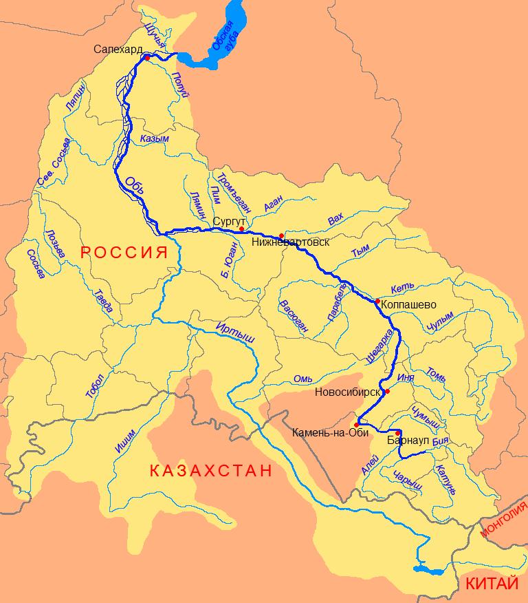 Куда течет река иртыш в омске схема фото 471