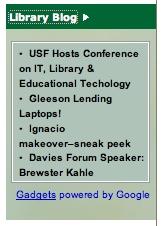 Library Blog Widget