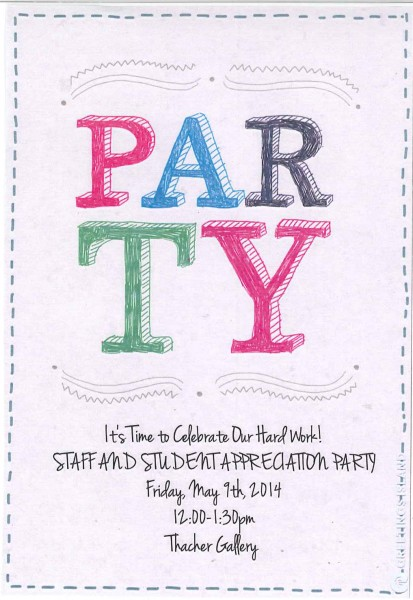 Year-End Staff & Student Appreciation Party INVITATION