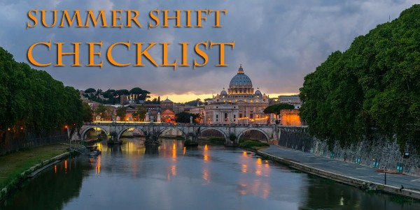 summer shift checklist image