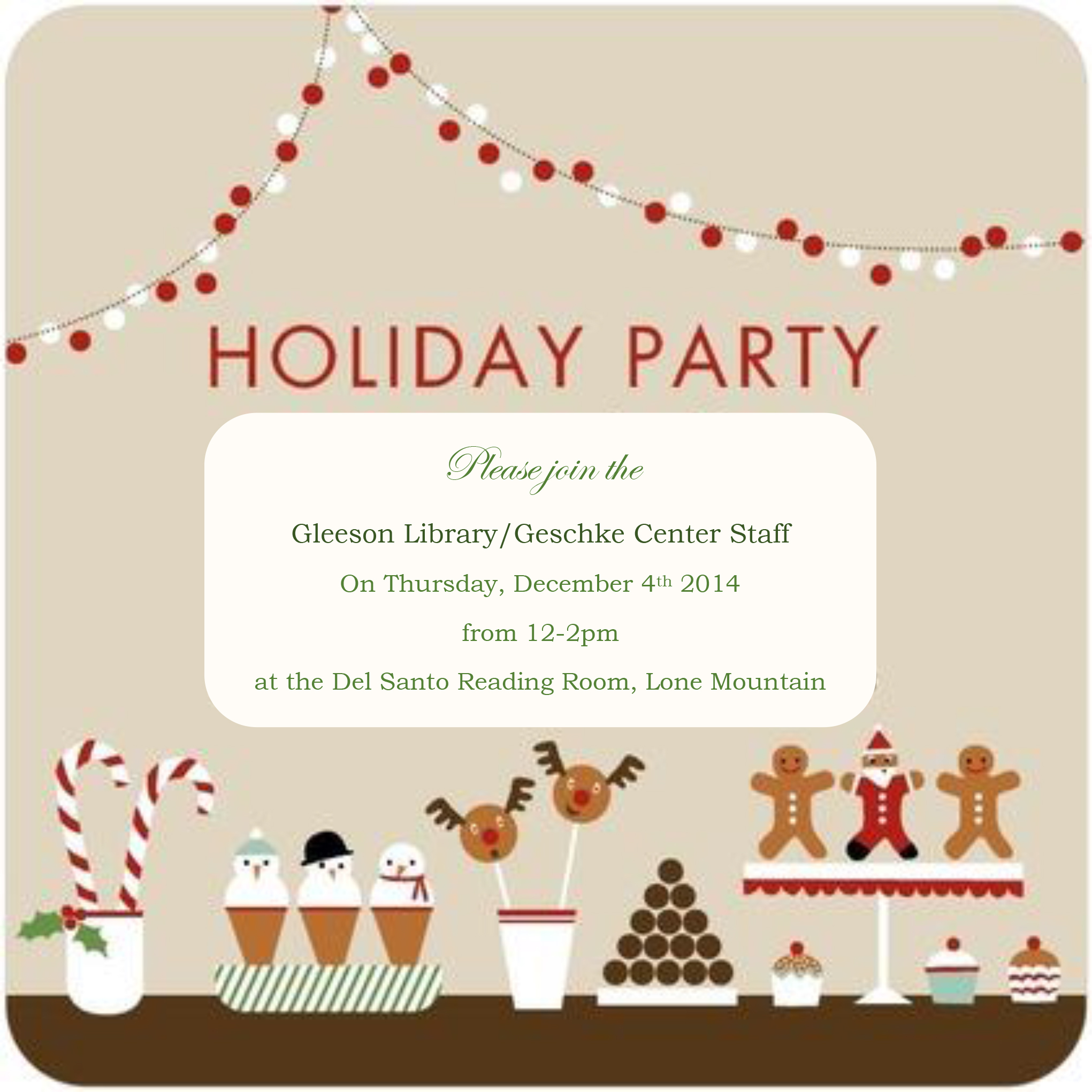Holiday Party Invitation 2014
