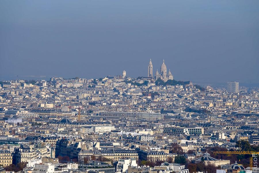 Фото вид с эйфелевой башни