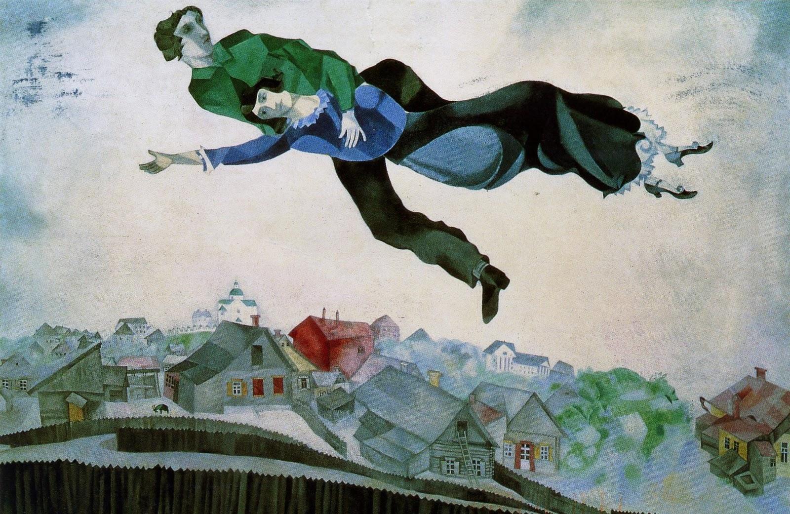 Марка Шагала: Летаете над городом? Ну-ну