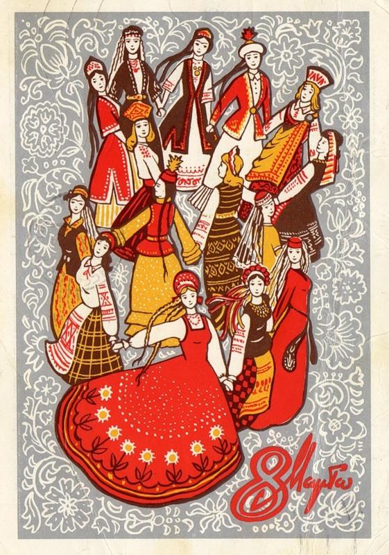 8 марта: эволюция праздника в открытках