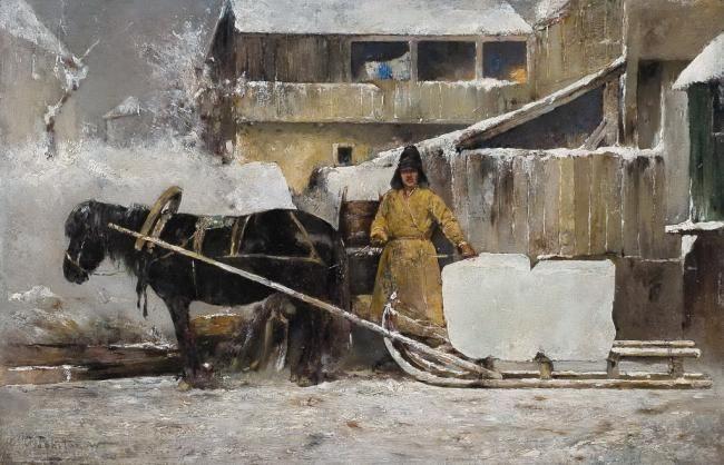 Похитонов Иван Павлович (1850 – 1923)Заготовка льда 1900