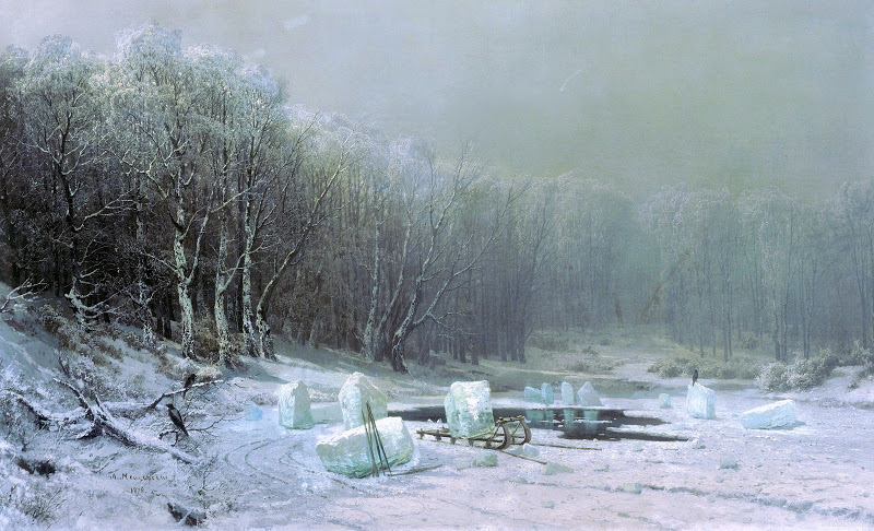 Арсений МЕЩЕРСКИЙ (1834-1902). Зима. Ледокол