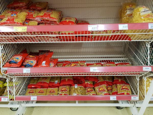 С полок магазинов стали исчезать макарошки...