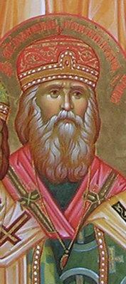 Святитель Иоанникий (Руднев), митрополит Киевский и Галицкий (фрагмент иконы Собора святых, в земле Саратовской просиявших)