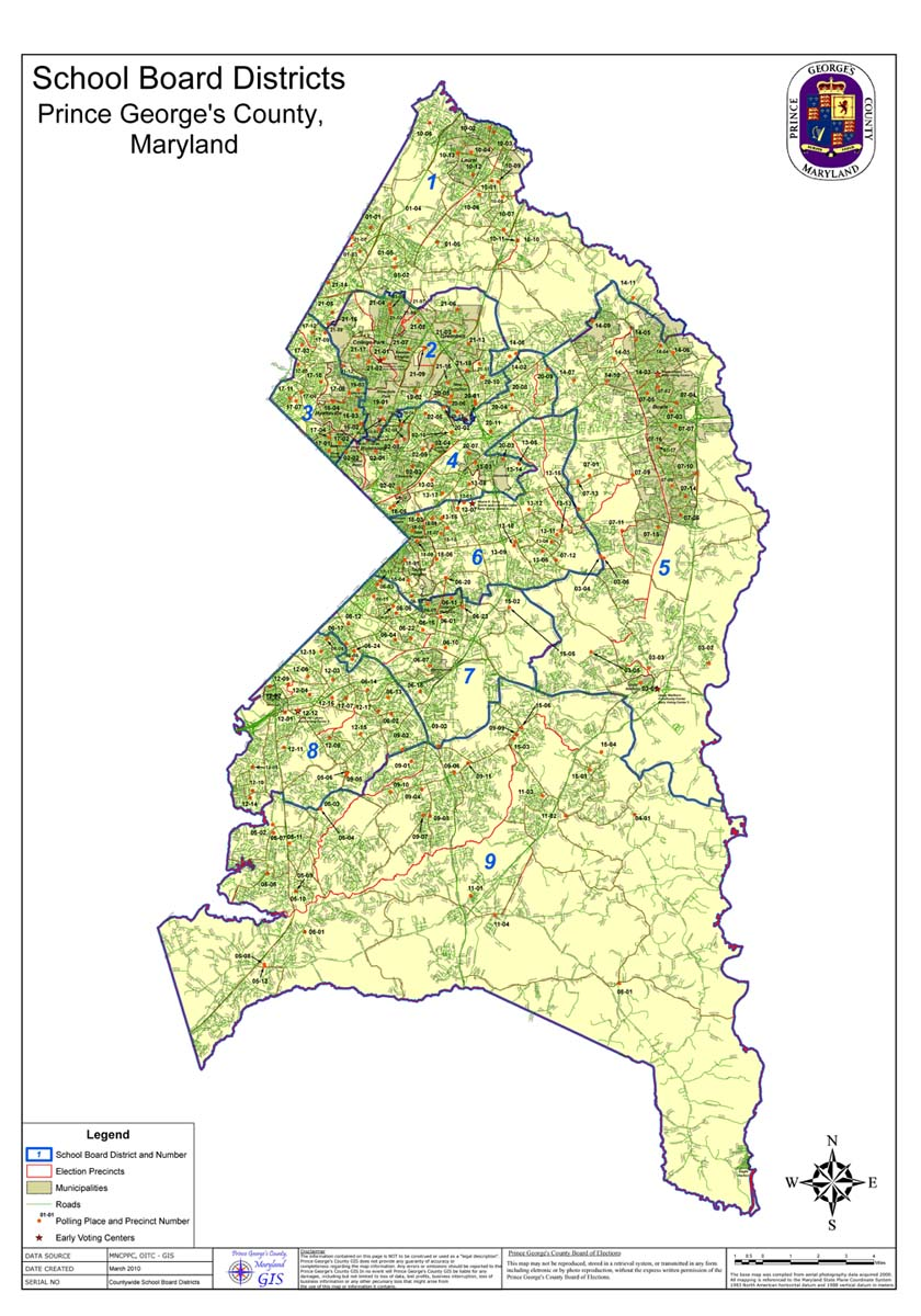 Map Of Prince George\'s County Map Of Prince George's County | compressportnederland Map Of Prince George\'s County