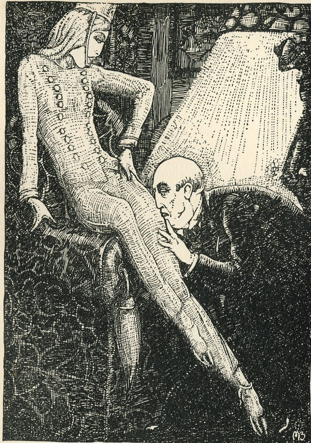 Mahlon Blaine illo for 1929 Eng ed of Alraune -- 1879682628_d72d2390db_o