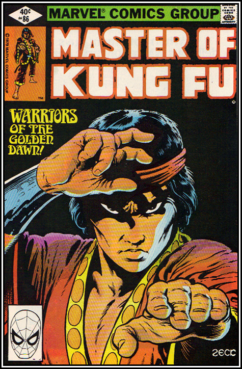 cover to Master of Kung Fu Vol 1 no 86 by Mike Zeck