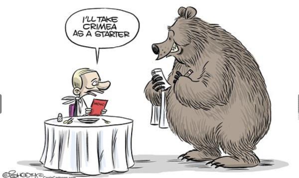 12 карикатур про Россию, Украину и Крым 2