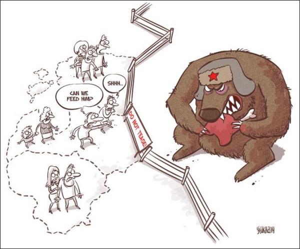 12 карикатур про Россию, Украину и Крым 8