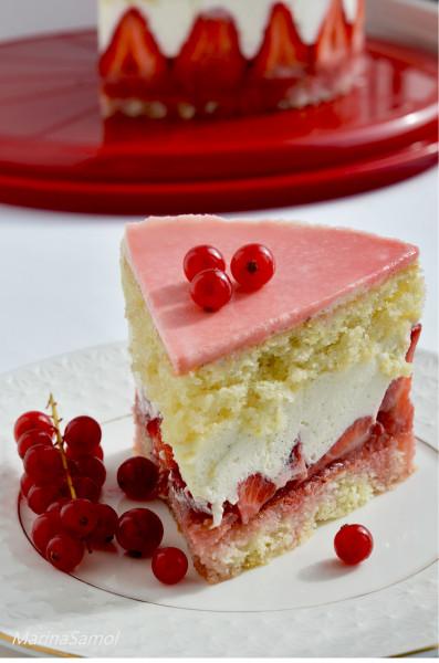 Торт желе из сметаны с фруктами фото 12