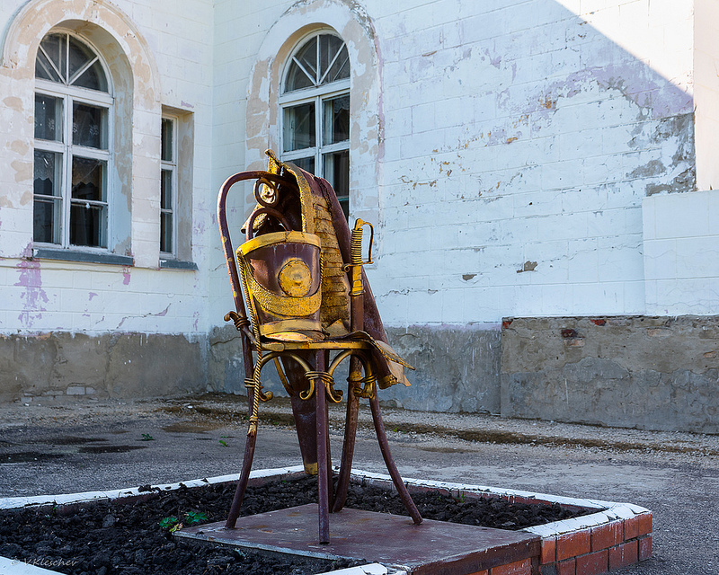 Памятник Денису Давыдову в селе Верхняя Маза.