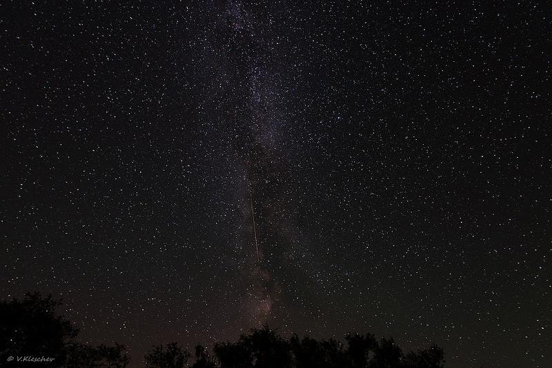 Метеор на млечном пути