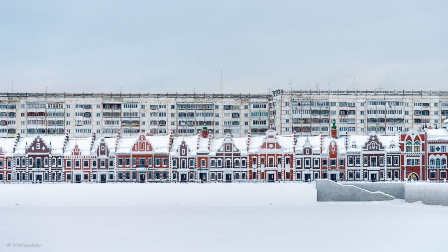 Набережная Брюгге зимой