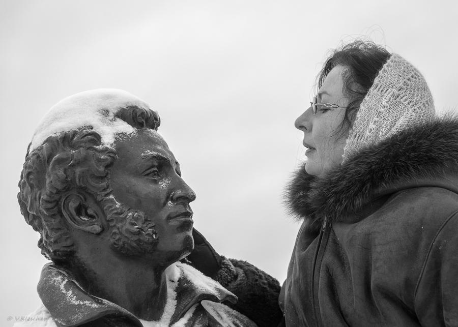 Пушкин и сестренка