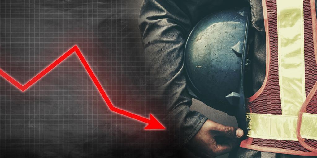 Промышленность Украины: спад продолжается