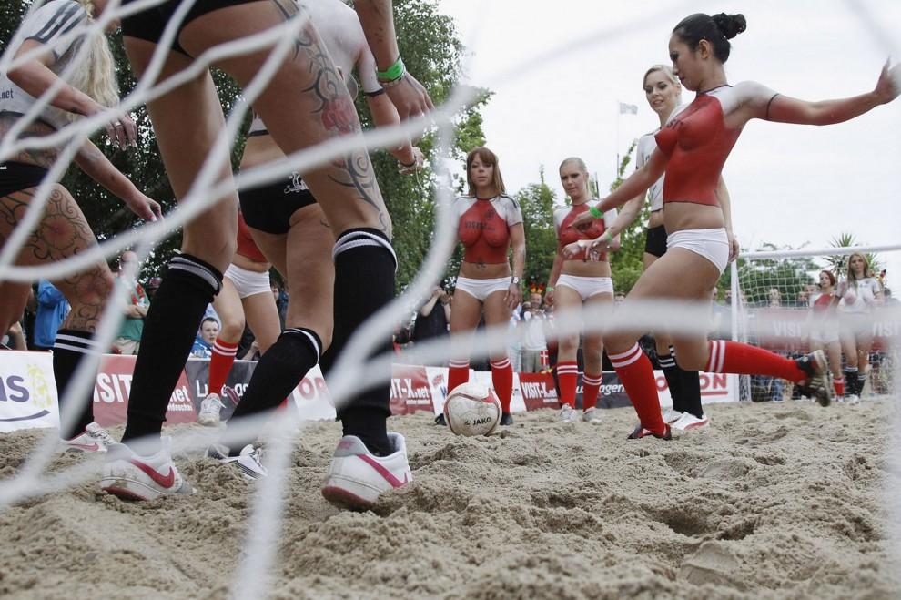Austria topless women s soccer video