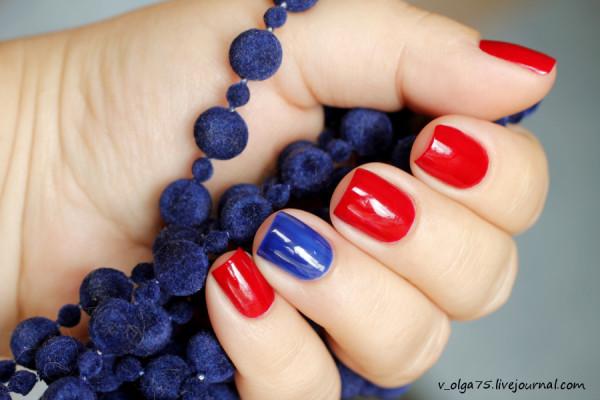 China Glaze Masai Red & Gade Blue Sapphire