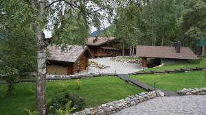 "Курорт ""Altay village"" на Телецком озере."
