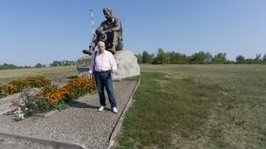 Памятник Василию Шукшину на горе Пикет.