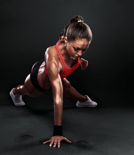 Фитнесистка.
