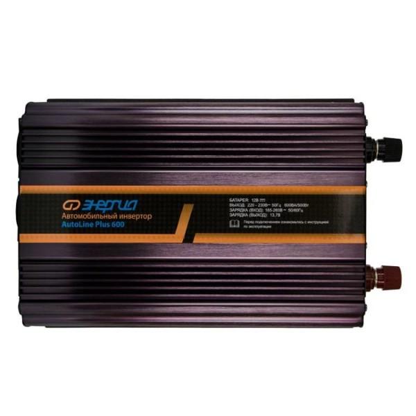 Автомобильный инвертор Энергия AutoLine Plus 600 с функцией зарядки аккумулятора.