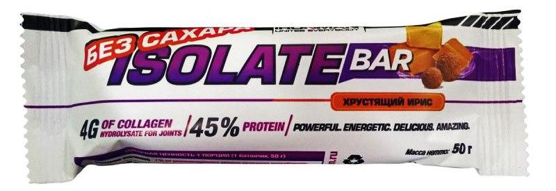 Высокопротеиновый батончик без сахара Isolate Bar IRONMAN