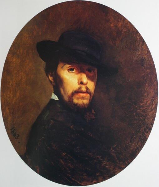 «Автопортрет  1863   Госуд  Русск музей