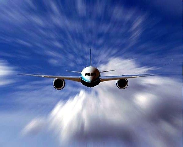 самолёт против ветра