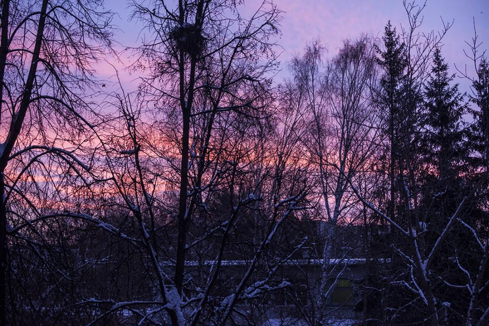Утро в Сибири.