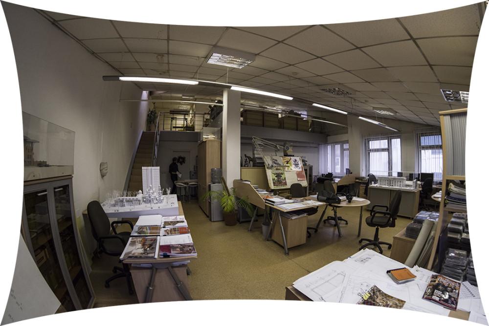 В архитектурной студии.