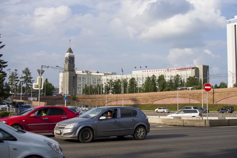 Часть площади 350летия Красноярска.