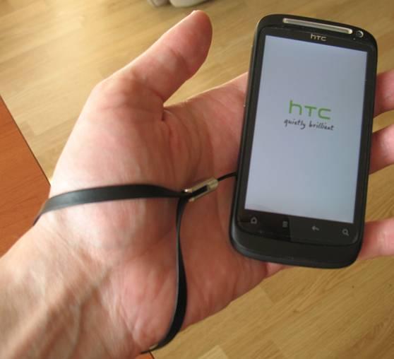 Теперь вы знаете, как закрепить ремешок на HTC Desire S