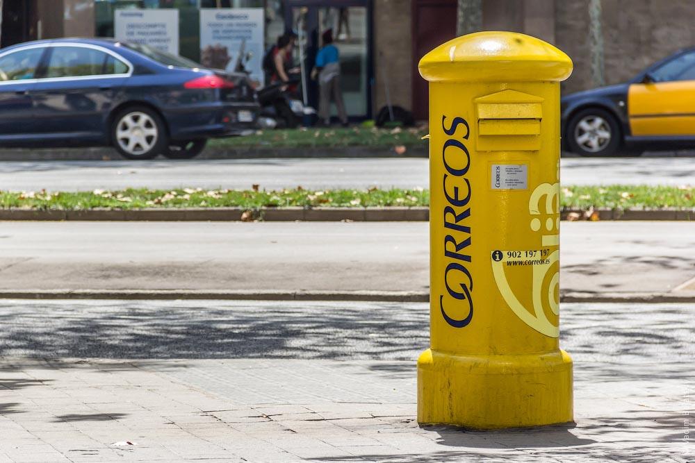 дополнительный домкрат, желтые почтовые ящики в барселоне фото целом