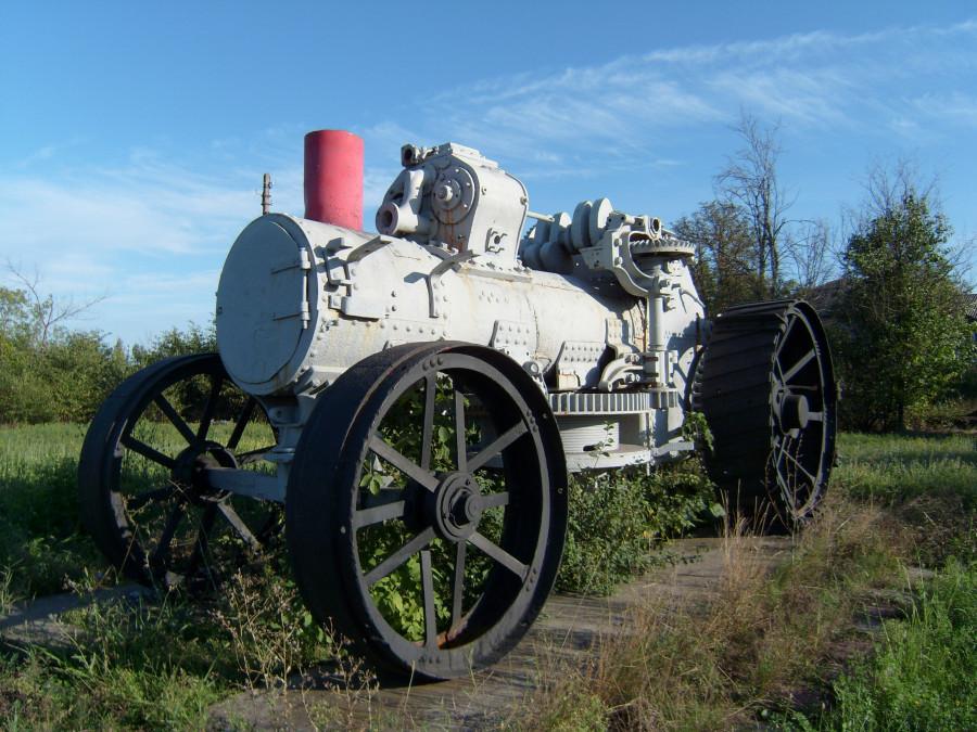 Австрийский паровой трактор. с. Власовка Луганской обл.