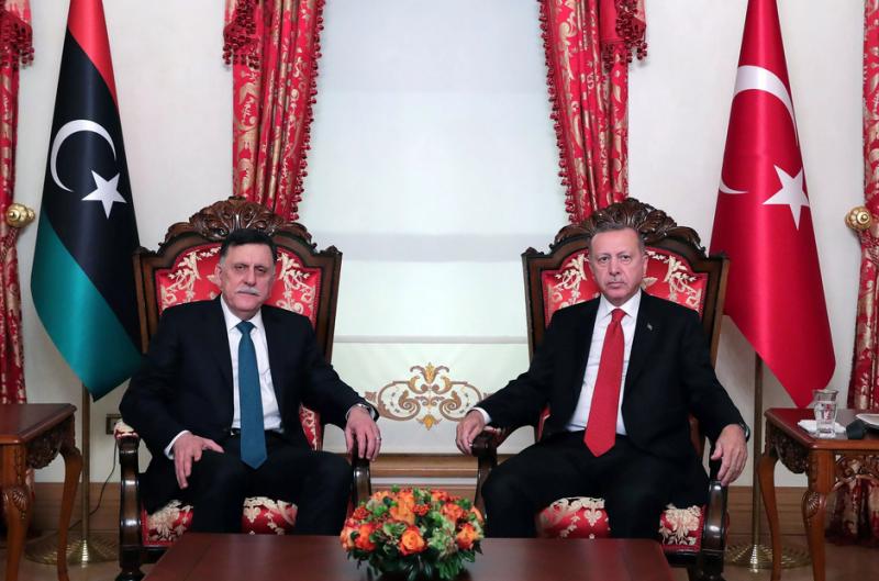 Файез Саррадж, Реджеп Тайип Эрдоган.