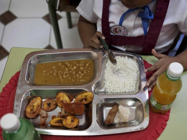 old-havana-cuba-rice-chicken-croquette-a-piece-of-taro-root-yellow-pea-soup-fried-plantains-and-an-orange-drink