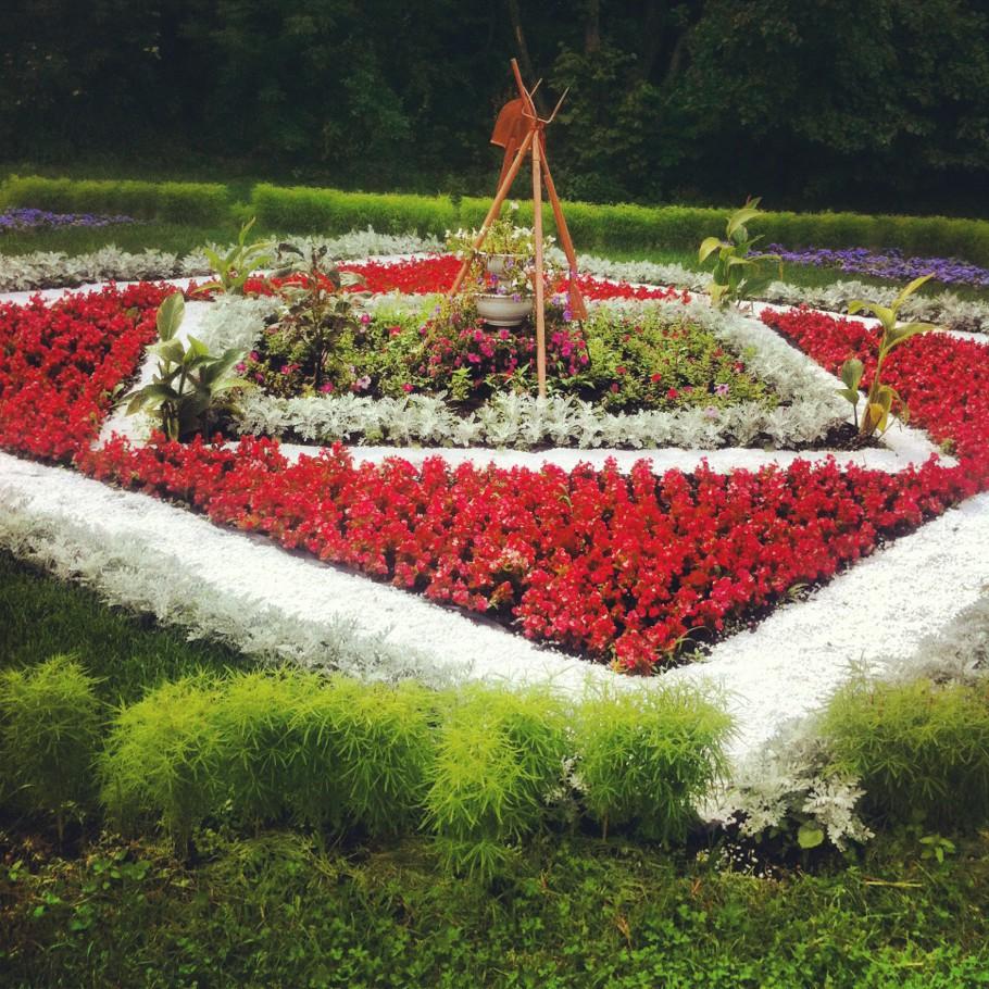 Фото схемы цветников на даче
