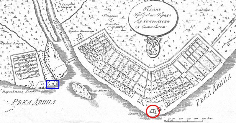 20_План губ гор Арх с Соломбю Козьма Молчанов 1767-1812 800